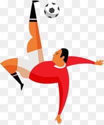 手绘体育俄罗斯足球运动员人物插画