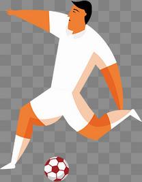 手绘体育运动世界杯运动员人物插画