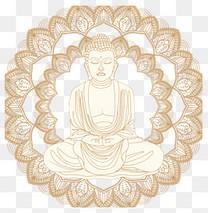卡通手绘宗教佛像