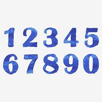 蓝色水墨水彩手绘创意艺术数字