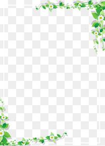 文艺处暑主题海报藤蔓叶子边框