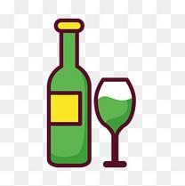 酒和酒杯素材图案