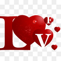 love心形字体设计