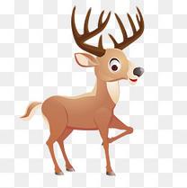 卡通鹿动物设计矢量图