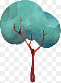 手绘树矢量图下载