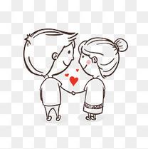 情人节牵手心形素材图案