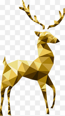 金色圣诞驯鹿