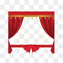 红色幕帘开业剪彩