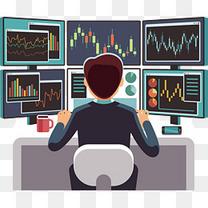 矢量股市上涨图表