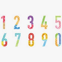 彩色水彩底纹图案创意艺术数字