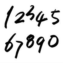 千库原创 免扣 数字 1234567890 手写毛笔字 创意字体