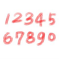 千库原创 免扣 数字 肌理效果 手写字 创意字体
