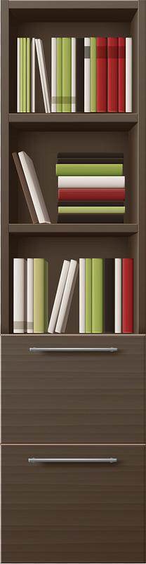 卡通手绘棕色书架