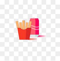 薯条可乐的可爱图标
