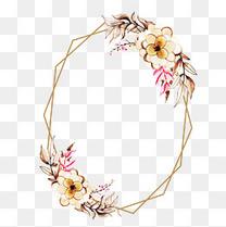 金色菊花六边形镶花纹理矢量图中国风