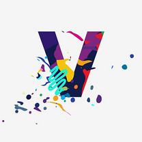 创意字母V装饰