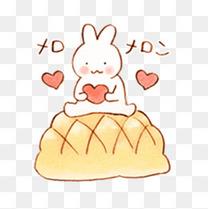 爱心面包的吃货兔子