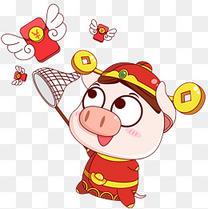 红包天使可爱猪宝宝