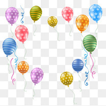 双十一装饰彩色矢量气球元素