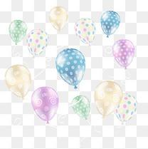 双十一漂浮彩色气球元素