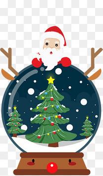 圣诞节喜庆的圣诞老人