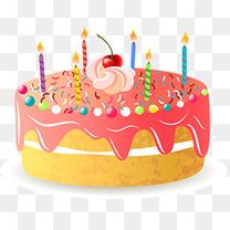 草莓奶油蛋糕设计素材