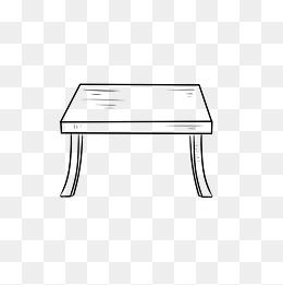 桌椅简笔画图片 桌椅简笔画素材图片 桌椅简笔画素材图片免费下载 千库网png