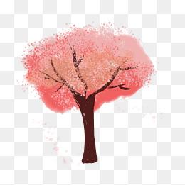 桃花树免抠_桃花树图片-桃花树素材图片-桃花树素材图片免费下载-千库网png