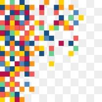 彩色像素格子组合