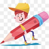 卡通学习小孩学校剪纸