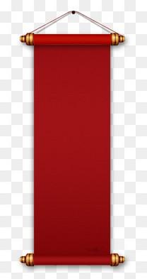 中国风红色卷轴
