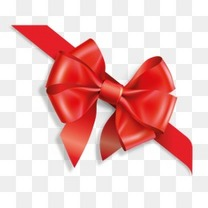 红色蝴蝶结彩带