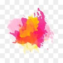 水彩墨迹 彩色水墨