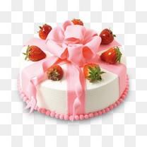 浪漫可爱手工花朵草莓蛋糕