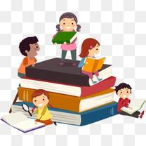 卡通书本教育小孩儿童