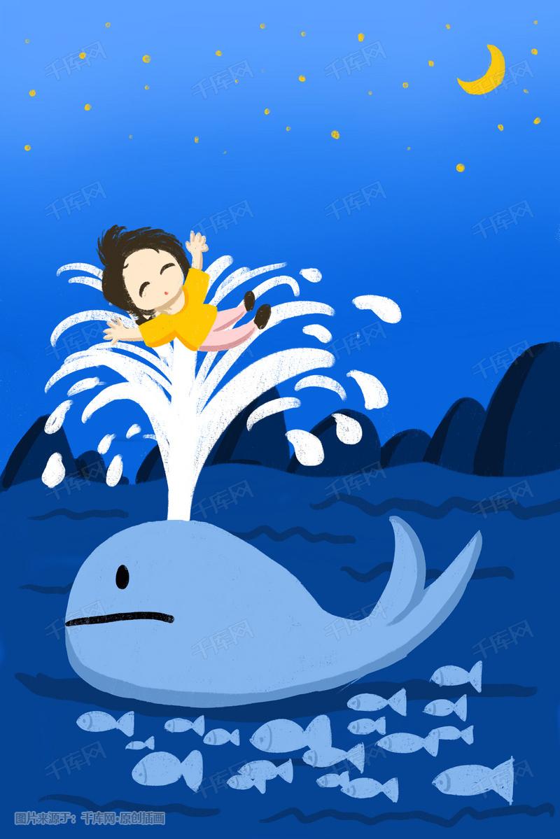 夏季蓝色海洋背景图