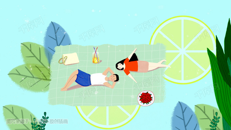 踏青清新夏日柠檬