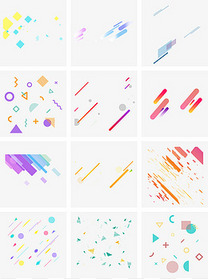 通用节日多彩卡通风活动促销几何图形PNG免抠装饰