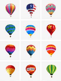 通用节日多彩真实风活动宣传热气球PNG免抠装饰