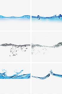 高清透明动感水波纹