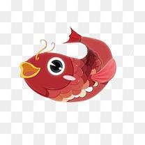 年年有鱼手绘卡通图案