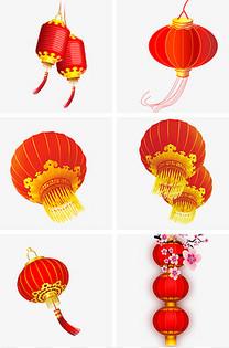 新年红色喜庆悬挂式大灯笼