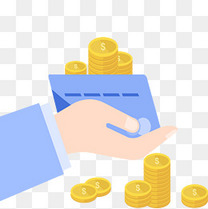 理财项目手拿银行卡钱币