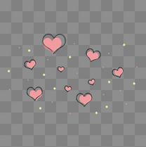 情人节星光爱心漂浮