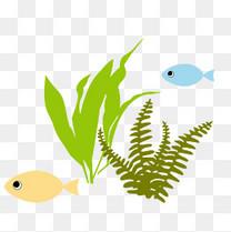 海中的水草和小鱼