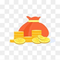 金币满满钱袋矢量装饰图案