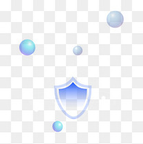 科技安全盾牌蓝色渐变漂浮