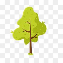 绿色的树矢量素材