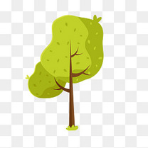卡通春天的树木矢量素材