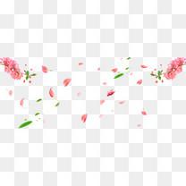 春天踏青桃花樱花树叶横板海报素材